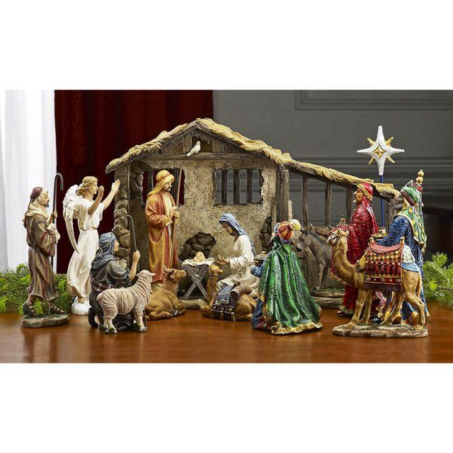 Three Kings Gifts 19-Piece Nativity Set